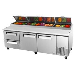 Turbo Air - TPR-93SD-D2 - 93 in 2 Drawer Pizza Prep Table image