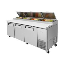 Turbo Air - TPR-93SD-N - Super Deluxe 3-Door Pizza Prep Table image