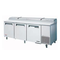 Turbo Air - TPR-93SD - Super Deluxe 3 Door Pizza Prep Table image