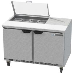 Beverage Air - SPE48HC-08-CL - 48 in Clear Lid Sandwich Prep Table image