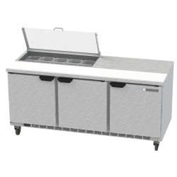 Beverage Air - SPE72HC-10-CL - 72 in Clear Lid Sandwich Prep Table image