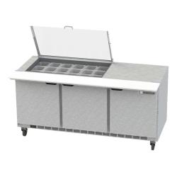 Beverage Air - SPE72HC-18-CL - 72 in Clear Lid Sandwich Prep Table image