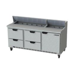 Beverage Air - SPED72HC-18-4 - 72 in 4 Drawer Prep Table image