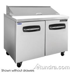Nor-Lake - NLSP48-12-003 - AdvantEDGE 2 Drawer 48 in Sandwich Prep Table w/Right Door image