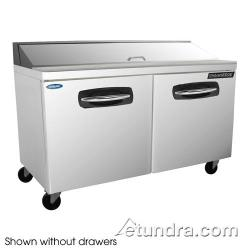 Nor-Lake - NLSP60-16-003 - AdvantEDGE 2 Drawer 60 in Sandwich Prep Table w/Right Door image