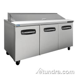 Nor-Lake - NLSP72-18 - AdvantEDGE 3 Door 72 in Sandwich Prep Table image