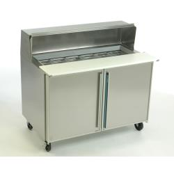 Silver King - SKEPT4812-SD-1-BM1 - 2 Door Refrigerated Prep Table image