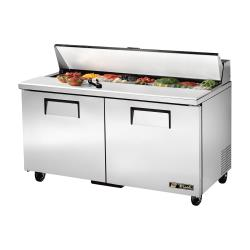 True - TSSU-60-16-HC - 2-Door 60 in Refrigerated Prep Table image