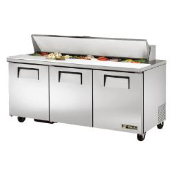 True - TSSU-72-18 - 3 Door Sandwich Prep Table image