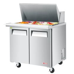 Turbo Air - EST-36-N6 - 36 in 2-Door E-Line Sandwich Prep Table image