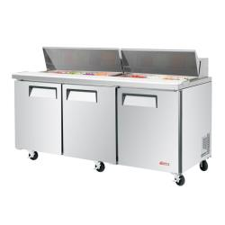Turbo Air - EST-72-N - 72 in 3-Door E-Line Sandwich Prep Table image
