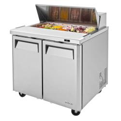 Turbo Air - MST-36-N6 - M3 Series 2-Door 36 in Sandwich Prep Table image