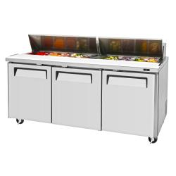 Turbo Air - MST-72-N - M3 Series 3-Door Sandwich Prep Table image