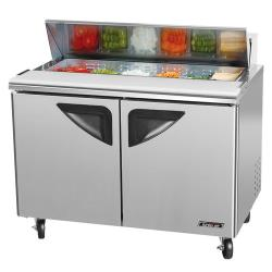 "Turbo Air - TST-48SD - Super Deluxe Series 2 Door 48"" Sandwich Prep Table image"