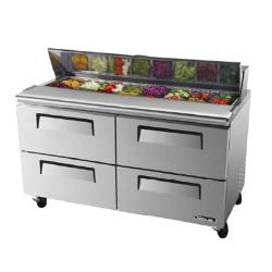 Turbo Air - TST-60SD-D4 - Super Deluxe 60 in 4 Drawer Prep Unit image