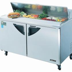 Turbo Air - TST-60SD - Super Deluxe 2 Door 60 in Sandwich Prep Table image