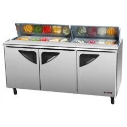 Turbo Air - TST-72SD-N - Super Deluxe 3-Door Sandwich Prep Table image