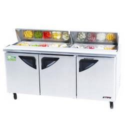 Turbo Air - TST-72SD - Super Deluxe 3 Door Sandwich Prep Table image