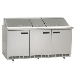 Delfield - 4472N-30M - 3 Section 72 1/8 in Mega Top Refrigerated Base w/ Doors image