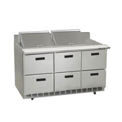 Delfield - STD4472N-24M - 3 Section 72 1/8 in Mega Top Refrigerated Base  image