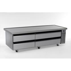 "Silver King - SKRCB84H/C6 - 84"" High Capacity Refrigerated Chef Base image"