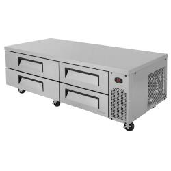 Turbo Air - TCBE-72SDR-N - 4-Drawer 72 in Stainless Steel Chef Base image