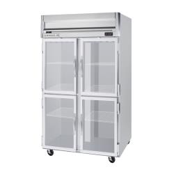 Beverage Air - HR2HC-1HG - HR Series (2) 1/2 Glass Door Refrigerator image