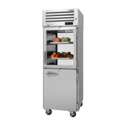 Turbo Air - PRO-26R-GSH-PT-N - 2 Glass/Solid 1/2 Door PRO Series Pass-Thru Refrigerator image