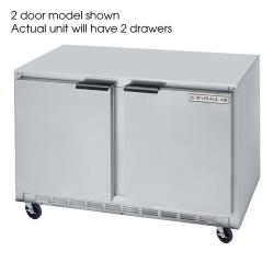 Beverage Air - UCRD46A-2 - 46 in 2 Drawer Undercounter Refrigerator image