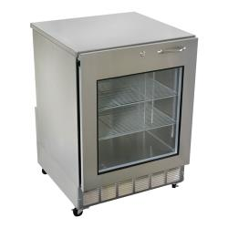 Glastender - UCR24X-L - Left Hinged Glass Door Undercounter Refrigerator image