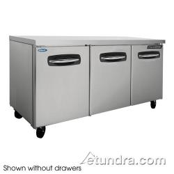 Nor-Lake - NLUR72A-007 - AdvantEDGE 4 Drawer 72 in Undercounter Refrigerator image