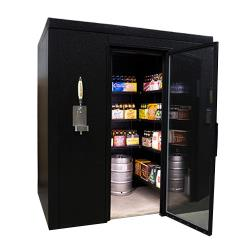US Cooler - BREWNF - Brew Cave Walk-In Beer Refrigerator With Floor image