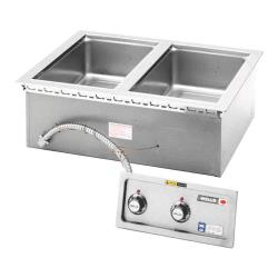 Wells - MOD200D - 2 Pan Built-In Warmer w/ Drain image