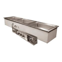 Wells - MOD300TDN - Built-In Narrow (3) Pan Warmer w/ Drain image