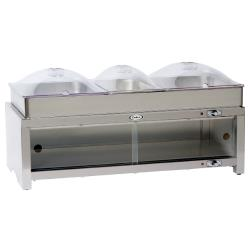 Cadco - CMLB-CSLP - Warming Cabinet with Buffet Server and Clear Lids image