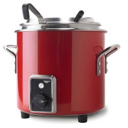 Vollrath - 7217755 - 7 Qt Fire Engine Red Stock Pot Kettle Rethermalizer image
