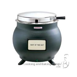 Server - 84300 - Black 11 Qt Soup Kettle Cooker/Warmer image