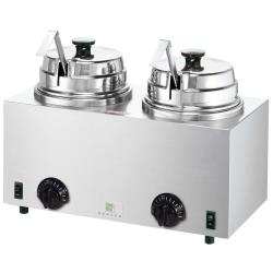 Server - 81220 - Twin Topping Warmer w/(2) Lids/Ladles image
