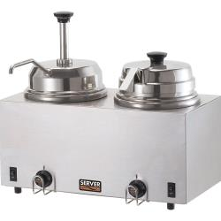 Server - 81290 - Twin Topping Warmer w/Pump & Lid/Ladle image