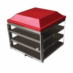 Adcraft - PW-20 - 20 in Three Tier Pizza Merchandiser image