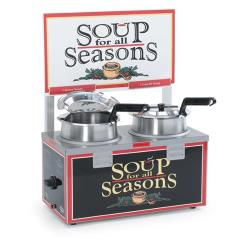 Nemco - 6510A-2D4 - Twin 4 Qt. Well Soup Merchandiser image