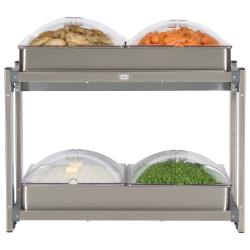 Cadco - CMLB-24P - Multi Level Buffet Server With Clear Lids image