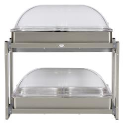 Cadco - CMLB-24RT - Multi Level Buffet Server With Clear Rolltop Lids image