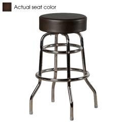 Oak Street - SL2129-ESP - Espresso Button Top Stool w/Chrome Frame image