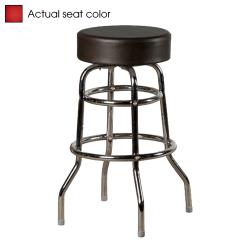 Oak Street - SL2129-RED - Red Button Top Stool w/Chrome Frame image