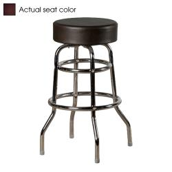 Oak Street - SL2129-WINE - Wine Button Top Stool w/Chrome Frame image