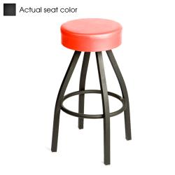 Oak Street - SL2132-BLK - Black Button Top Stool w/Black Frame image