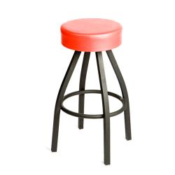 Oak Street - SL2132-RED - Red Button Top Stool w/Black Frame image