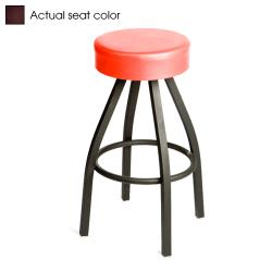Oak Street - SL2132-WINE - Wine Button Top Stool w/Black Frame image