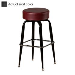 Oak Street - SL2135-BLK - Black Button Top Stool w/Bucket Frame image